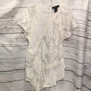 Karen Kane sheer/lace blouse